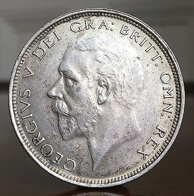 George V Halfcrown, 1927. Sharp And Crisp With Unusually Strong Hair Details.