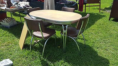 Vintage Yellow Metal table and chairs