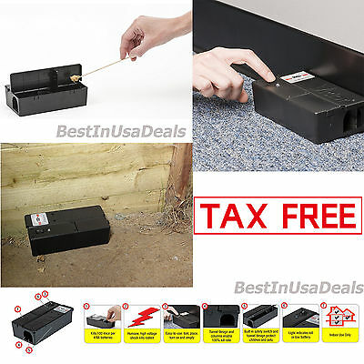 Electric Mouse Killer Rat Trap Zapper Pest Control Mice Catch Cage Box Indoor