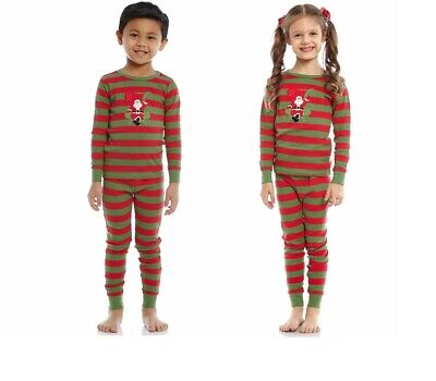 CHRISTMAS Leveret Santa Christmas 2 Piece Children Pajama 100% Cotton 3 YEARS