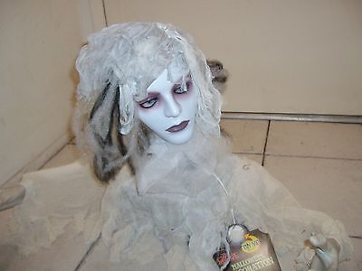 Animated Head Spinning Two Faced Groundbreaking Bride. Halloween Prop.