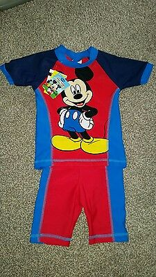 mickey mouse swim suit 12-18months