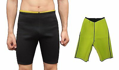 ValentinA Mens Sweat Shapers Pants Hot Slimming Sauna Shorts Black