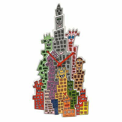 "James RIZZI: Wanduhr ""THE CITY THAT NEVER SLEEPS"", Goebel Porzellan, neu 1. Wahl"