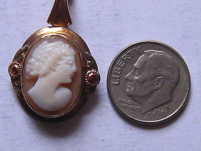 Vintage 14k Cameo Pendant, not scrap, 3g Yellow and Rose Gold