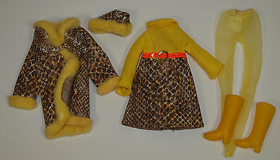 Vintage Francie #1245 SNAKE CHARMER Coat Dress Hat Pantyhose w/ CLONE Boots