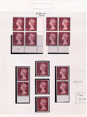 Great Britain QEII High Values Study of Singles/Blocks ON 9 PAGES MNH/USED HCV