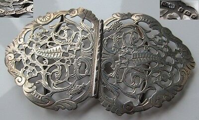 Beautiful solid silver English hallmarked buckle