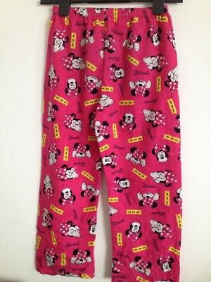 Girls Pink Minnie Mouse Pyjama Bottoms Aged 7-8 Yrs