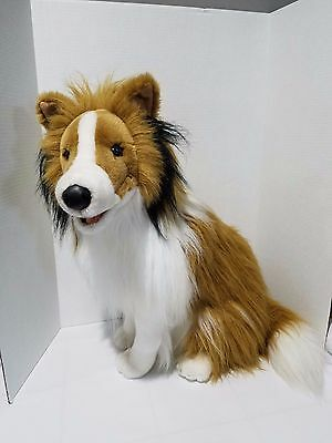 Large LASSIE Collie Dog 20 inch Golden Book Seated Plush Toy E&J Classic 2000