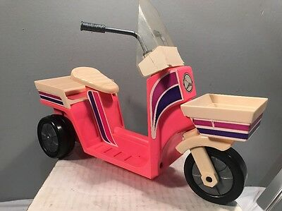 1982 Barbie Doll Motor Scooter Moped Meritus Industries Vintage Pink
