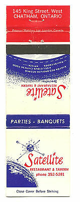 Matchbook Cover Satellite Restaurant and Tavern Chatham Ontario Canada
