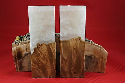 Maple Burl Pearl Composite Knife Handle Material Blank Scales Gun Grips (81)