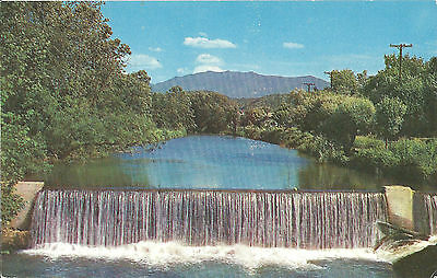 Vintage Postcard Pigeon Force Dam Mt Le Conte Smoky Mtn Tennessee