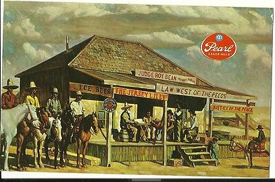 Vintage Postcard Pearl Brewing Co Xxx Beer Jersey Lily Saloon Texas
