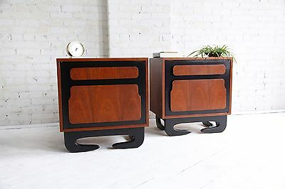 Mid Century modern sculptural nightstands $300 each