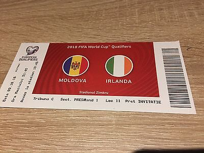 Moldova V Republic Of Ireland- October 2016- Ticket Stub- Rare!