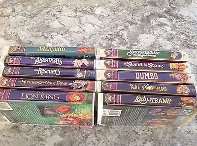 Walt Disney mixed lot of 10 VHS Tapes Masterpiece Collection RARE Dumbo Lion