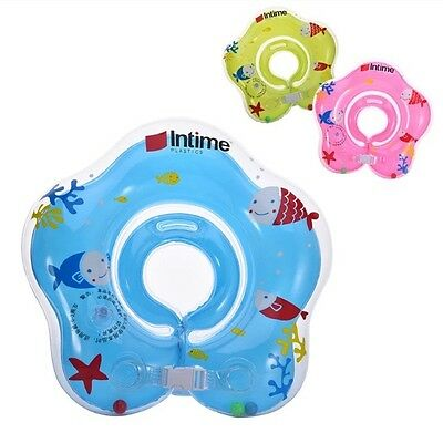 Floating Swim Ring for baby neck Inflatable Swimming Ring  Bath newborn 0-18