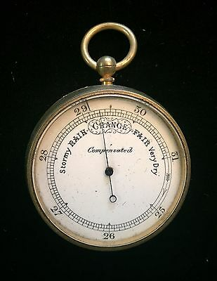 Victorian Hand-Held Pocket Watch Style Barometer