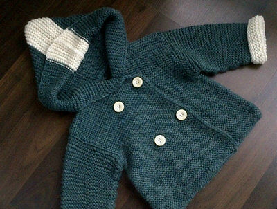 Hand Knitted Baby Wool Sweater Baby Cardigan Baby Jacket Medium size 6-12 month