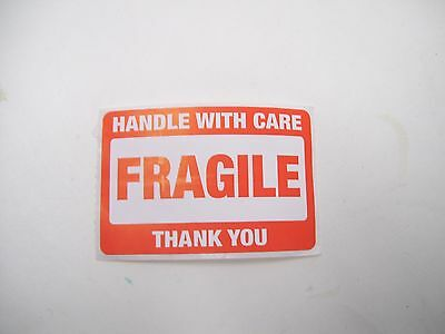 "Lot 100 2"" X 3"" Fragile Handle With Care Shipping Sticker/Decals/Stickers"