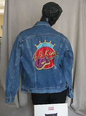Rare Denim King Of The Blues B B KING SAS Jacket Size 40R by LEE USA & Record