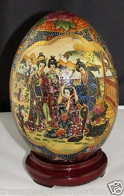 Large Collectable Japanese - Oriental - Hand Crafted Ceramic Egg