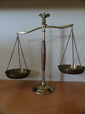 Bronzed Legal Lawyer Scales of Justice with Eagle