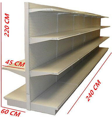 220 x 240 cm Double-sided Retail Gondola Store Supermarket Shelving Shop Display