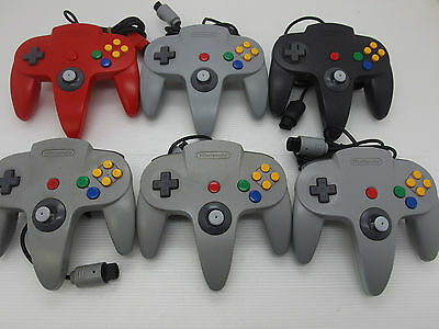 Nintendo 64 Controllers Lot of 6 Official Untested AS IS JAPAN N64