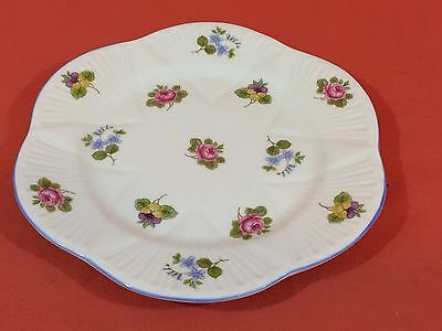 Vintage SHELLEY China ROSE Pansy FORGET-ME-NOT Bread & Butter Plate