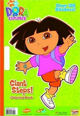 Nickelodeon Dora the Explorer Giant Steps! Giant Coloring Book w/ Stickers