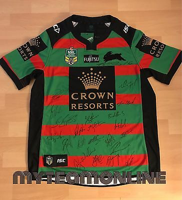 2017 South Sydney Rabbitohs Signed Home Nrl Jersey
