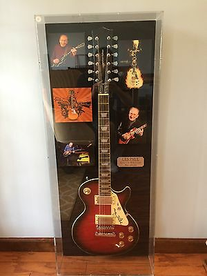 Les Paul Signed Guitar PSA/DNA in Case Ready To Hang Autograph Signature Edition