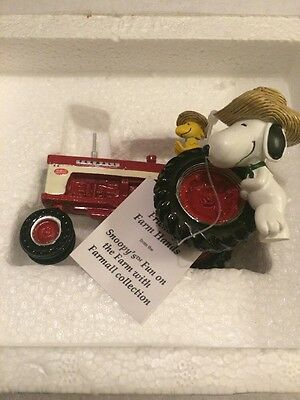 The Hamilton Collection Snoopy's Fun On The Farm With Farmall Tractor