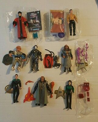 Lot of Playmates Star Trek Figures with Stands and Accessories
