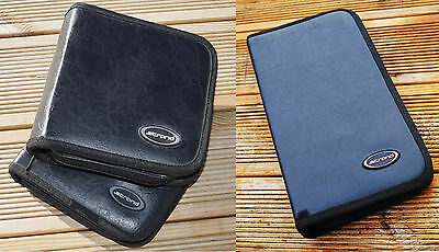 3 x STRAND Music Line DVD Disc Sorage Cases Wallets Black faux Leather