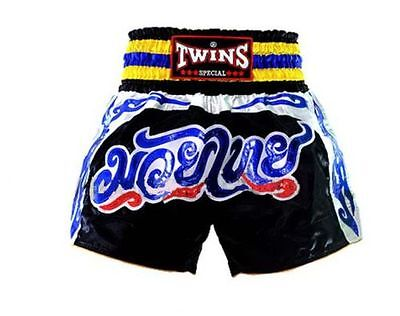 Twins Special Muay Thai Kick Boxing Shorts Blue/black S, M, L, Xl, Xxl Au Stock