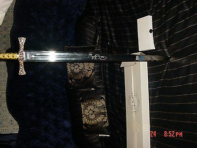 "Highlander Methos sword ""Wet autographed by Peter Wingfield """