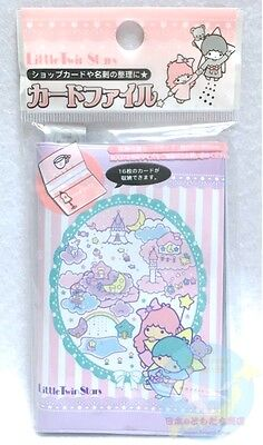 SANRIO Little Twin Stars Card Holder vinyl Transparent Pocket 16 Storage STRIPE