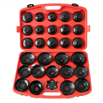 "30pc Cup Oil Filter Wrench Removal Socket set 3/8""1/2"" Repair 65-120MM 20003059"