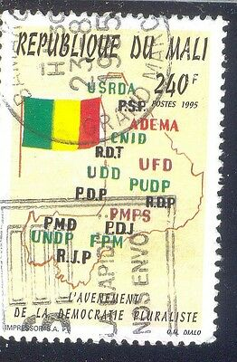 Mali 240 F Used Stamp 37561 Map Flag 1995