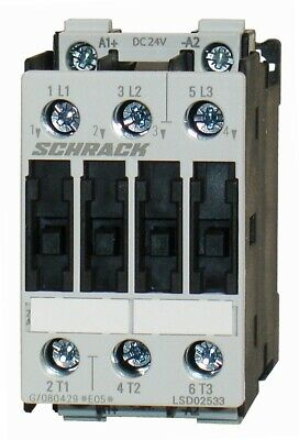 Contactor SCHRACK AC3: up to 11KW/25A/400V, Size S0 (100% Siemens compatible)
