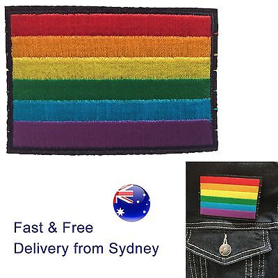 Gay pride flag iron on patch - Marriage Equality for LGBTQ rainbow yes campaign