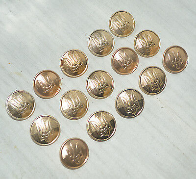 Military Original 15 Big Buttons officers Ukrainian army