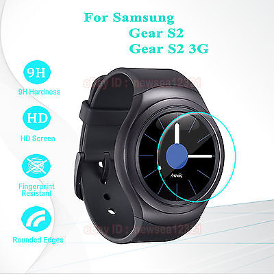 2PCS Tempered Glass Screen Protector Cover For Samsung Gear S2 3G SM-R720 R730
