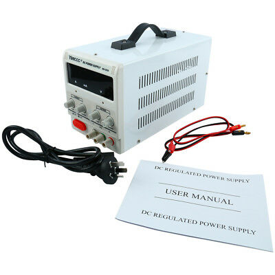New Power-Supply-0-30V-0-5A 8014  Variable-Adjustable-Lab-DC-Bench