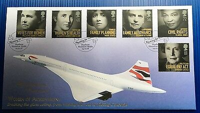Buckingham FDC signed by Barbara Harmer - only ever female Concorde pilot.