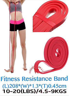 Resistance Stretch Exercise Pull Rubber Bands Men Women Workout Gym Fitness UK